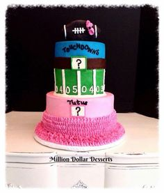 Our gender reveal cake :)