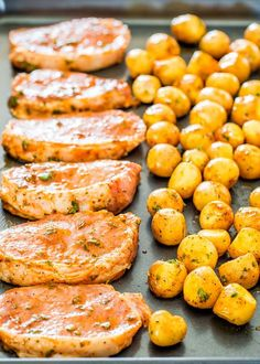 Ranch Pork Chops and Potatoes Sheet Pan Dinner - get out your sheet pan to make this delicious and easy dinner with ranch pork chops and potatoes!