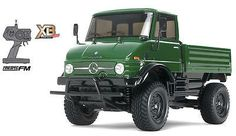 TECH NOTES This is the electric powered, radio controlled 1/10 scale, ready to run Mercedes-Benz Unimog 406 Truck from Tamiya. From Tamiya's XB Pro Expert Built Series. FEATURES: Chassis: CC-01 plasti