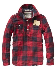 Scotch and Soda plaid