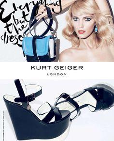 Anja Rubik for Kurt Geiger Spring/Summer 2013 accessories campaign