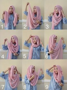 47 New ideas fashion hijab style inspiration scarfs Simple Hijab Tutorial, Hijab Style Tutorial, Hijabi Girl, Girl Hijab, Hijab Fashion Inspiration, Mode Inspiration, Hijabs, Hijab Styles For Party, Mode Turban