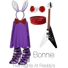 Five Nights At Freddy's - Bonnie by magicalhuqz on Polyvore featuring polyvore, fashion, style, M Missoni, Enzo Angiolini and Bling Jewelry