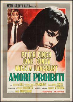 In the Cool of the Day (1963) Stars: Peter Finch, Jane Fonda, Angela Lansbury, Arthur Hill, Constance Cummings, Alexander Knox, Nigel Davenport ~ Director: Robert Stevens (Italian Poster)