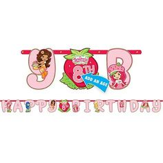 Strawberry Shortcake Letter Banner for only $7.53 You save: $1.17 (13%)