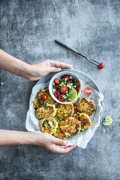 Paneer Chilli And Charred Corn Fritters