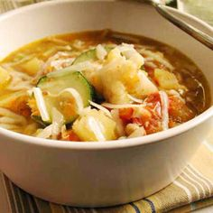 Minestrone Soup with Soybeans | MyRecipes.com #MyPlate #protein #vegetable