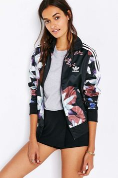 adidas Lotus Print Track Jacket - Urban Outfitters