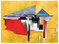 Milwaukee Art Museum abstract site study by artist Ginny Herzog #architecture #art #abstract