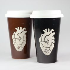 Anatomical Heart Travel Mug – Bread and Badger Gifts