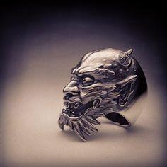 Oni : Horiyoshi3 #oni #fantasy #ring #jewelry #sculpture #collaboration #horiyoshi3 #creep