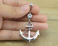 Anchor Belly Button Rings,anchor Navel Jewelry, anchor belly button ring,vintage anchor,navy ring,summer jewelry on Etsy, $5.99
