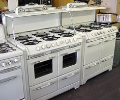 This is it, the model with the glass doors!!!  I've finally decided.  General Appliance Refinishing, Inc. - Stoves For Sale: 39inch Double Oven O'Keefe & Merritts