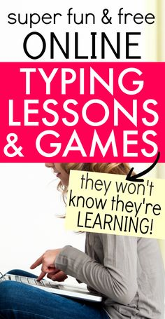 Looking for typing lessons online for kids? Try these free online typing lessons and games--free online learning fun! #onlinelearning #typing #lessons #free #learningresources
