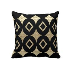 Contemporary Abstract  African Design Pillow
