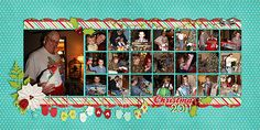 Christmas 2011 by Jennifer (jmljensen)  You'll love this layout using the Double Album Templates II as much as us. The blocked photos stand out well in contrast against the polka-dotted background paper and, without words needed, tell the tale of a Christmas Day. The mittens pegged up on string are a great touch too.  Merry Christmas!