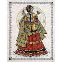 Indian Maiden cross stitch