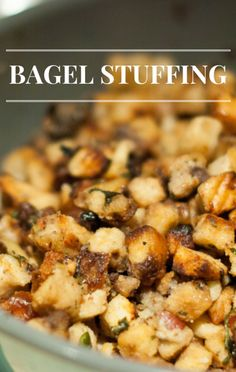 The co-hosts of The Chew shared an incredible side dish recipe for bagel stuffing.