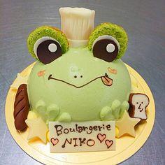 カエルの抹茶キャラメルケーキ ♡