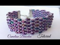 Chamelion bracelet - ladder stitch with superduos - Seed Bead Tutorials