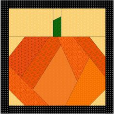 pattern for a pumpkin quilt block | Halloween Paper Pieced Pillow Ideas «…