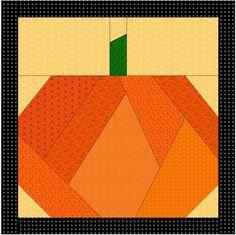 pattern for a pumpkin quilt block | Halloween Paper Pieced Pillow Ideas «…