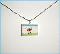 Children's Artwork Pendant Necklace Your Childs Art by Analiese