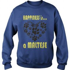 Awesome Tee Limited Edition Happiness is a Maltese Shirt; Tee