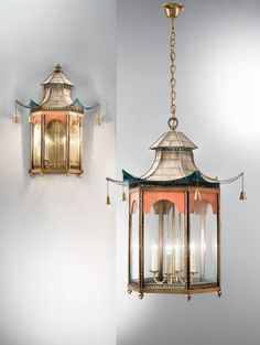 The Pagoda #lanterns, pictured, complement Chinoiserie-styled #wallpaper, fabrics and #furniture.