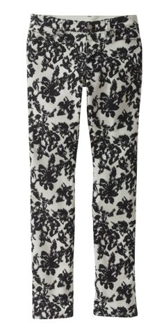Do not be afraid of the statement pant!  We are loving this beautiful black and white floral print.  (via @Ann Taylor www.anntaylor.com)