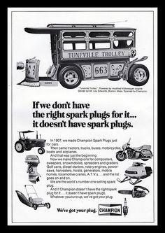 Champion Spark Plugs, 1975