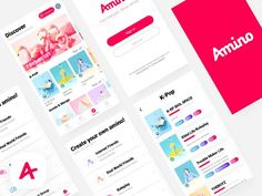 Amino  App  Redesign by SUMEIBULUO - Dribbble