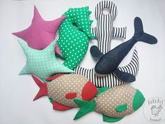 underwater life #seahorse #starfish #fish #whale #anchor #handmade #handmadedecor #kokoart #kidsroom #cotton