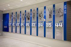 Memphis Basketball Environmental Graphics, Environmental Design, Display Design, Wall Design, Office Mural, Office Art, Timeline Design, Museum Displays, Signage Design