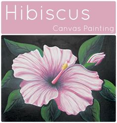 The hibiscus flower evokes feelings of a warm, tropical paradise. Get your luau on and your umbrella-cocktail ready to have a great afternoon painting with friends. Hibiscus flowers come in many different colors so changing out the pinks for oranges or reds would be simple to match your taste. #socialartworking #hibiscus #canvaspainting