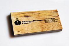 45 Most Creative and Sophisticated Business Cards: Wooden And Furniture Inspired