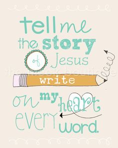 Tell Me the Story of Jesus Printable No 72 by TheMeekBoutique, $5.00