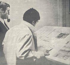 La salle des journaux en 1968, 67 boulevard Vauban. (Premier numéro du journal ESJ de janvier 1968)