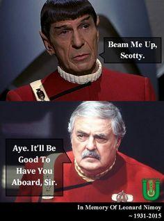 Scotty and Spock Star Trek Enterprise, Star Trek Starships, Star Citizen, Star Trek Characters, Star Trek Movies, Star Wars, Star Trek Tos, Star Trek Quotes, Spock Quotes