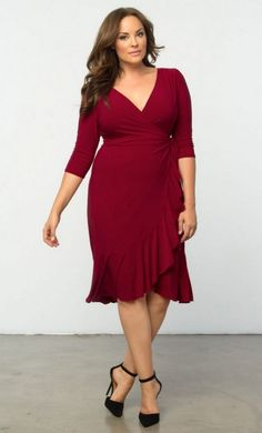 Need something chic and easy to wear to work on those days you are just not feeling it? The plus size wrap dress is a wardrobe essential every woman needs in her closet and we found 12 Uber Chic Plus Size Wrap Dresses!   Day or night, this plus size wrap dress from Kiyonna will get you through.   12 Uber Chic Plus Size Wrap Dress You Need In Your Closet http://thecurvyfashionista.com/2017/02/plus-size-wrap-dress/