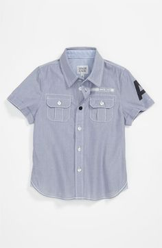 Armani Junior Woven Shirt (Toddler) available at #Nordstrom