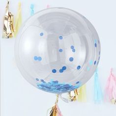 """by Party Decor White Print Blue Earth 12 ct 12/"""" Printed Latex Balloons"""