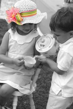 """splash"" of color / art of photography / little tea party / hats / cute kiddo pics"