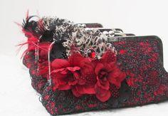 Bridesmaid Clutches / Black Evening Bag / от PetiteVintageBags