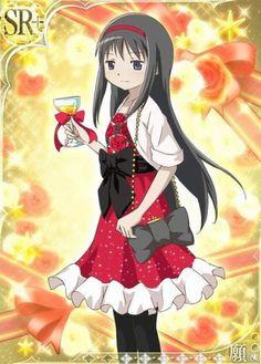 puella magi madoka magica cards Homura Akemi