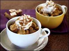 Hungry Girl- Caramel Bread Pudding in a Mug