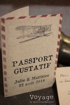 Image of MENU - PASSPORT GUSTATIF -
