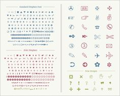 矢印・指さし・シンボル・丸数字など、さまざなピクトグラムが全部揃ってるDingbatsフォント -Erler Dingbats