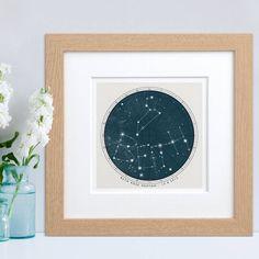 Personalised Birthday Constellation Print
