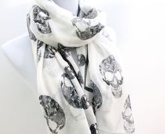 Black and White Abtract Skull  Black Skull by dailyaccessoriez, $12.99
